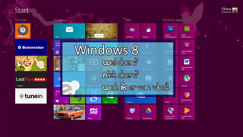 Windows 8 – mijn eerste indruk